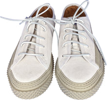 Load image into Gallery viewer, Brigata Sneakers In White Crackle Effect Leather