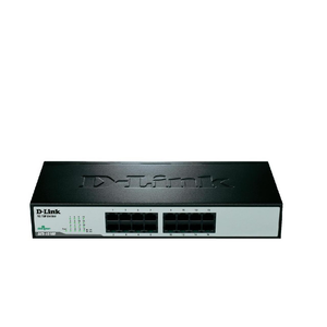 D-Link DES-1016D Unmanaged Ethernet Switch – 16 Ports / 10 to 100Mbps / Metal Case & Rack Mount