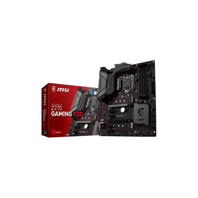 MSI Mainboard LGA1151 Intel Z270 Gaming M3 ATX: 4*DDR4/2*M.2 SATA,PCIe NVMe/6*SATA3/Mystic Light Red