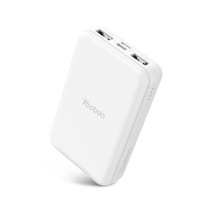 Yoobao P10W Power Bank 10000mAh / Credit Card Size / Dual Output (2.1A) / Dual Input (2.1A) / White
