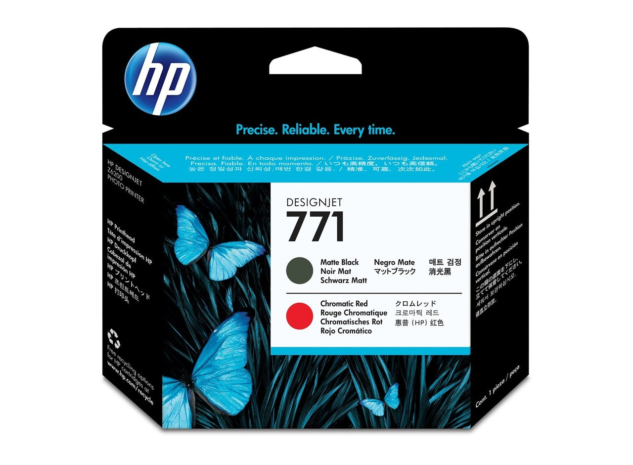 HP 73 Matte BL & Chromatic Red Printhead