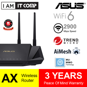 Asus RT-AX3000 Dual Band WiFi 6 (802.11ax) Router
