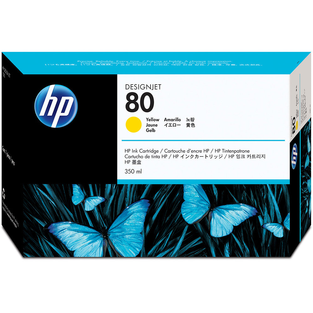 HP No 80 Yellow Ink Cartridge350ml