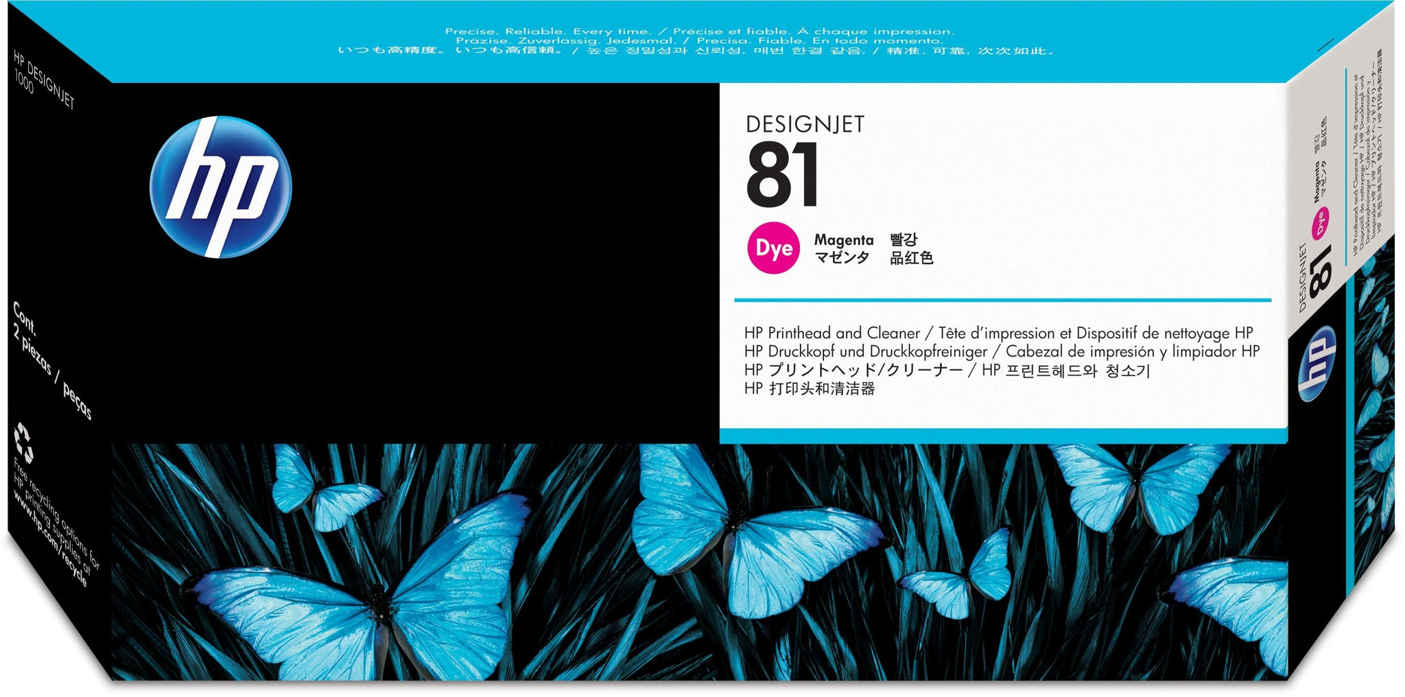 HP 81 Magenta Dye Printhead and Cleaner