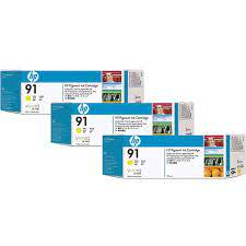 HP 91 Yellow 3 Pack Ink Cartridge