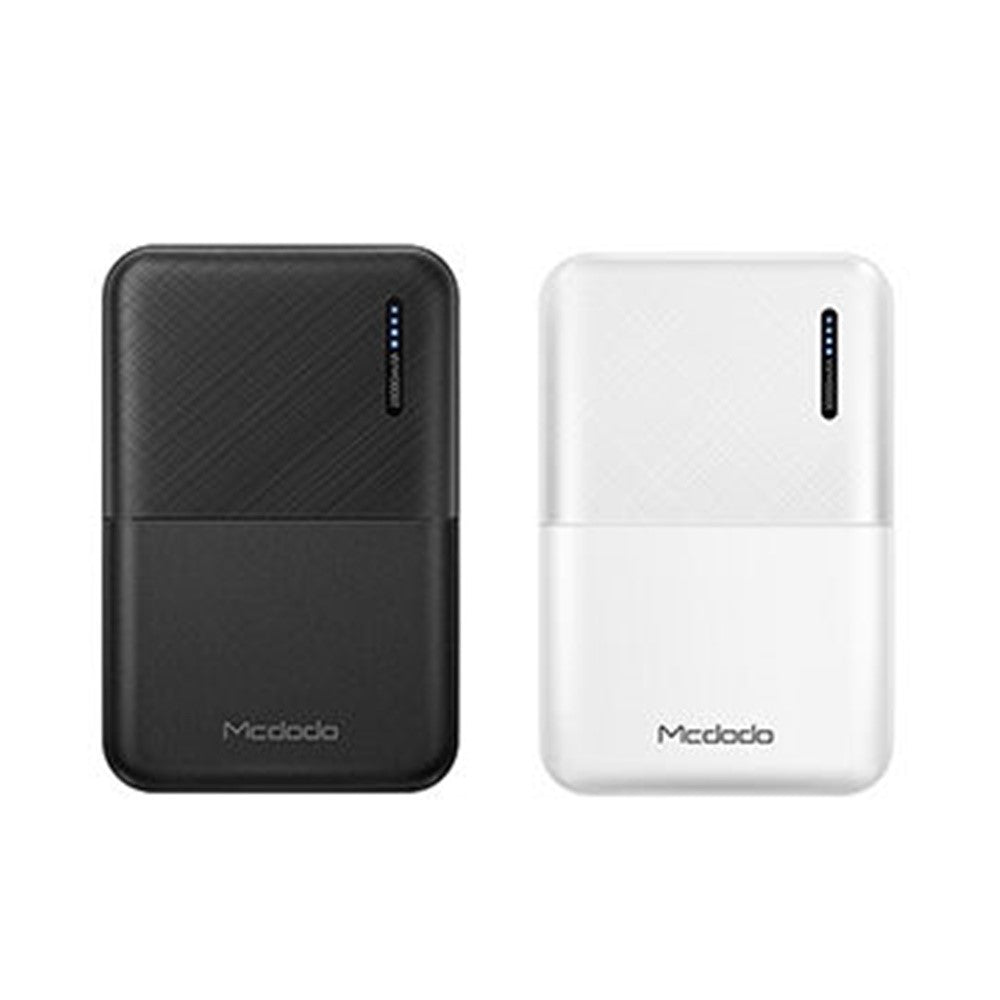 Mcdodo MC6031/MC6030 Mini Size Dual Usb Port 10000mAh Power Bank Black/White