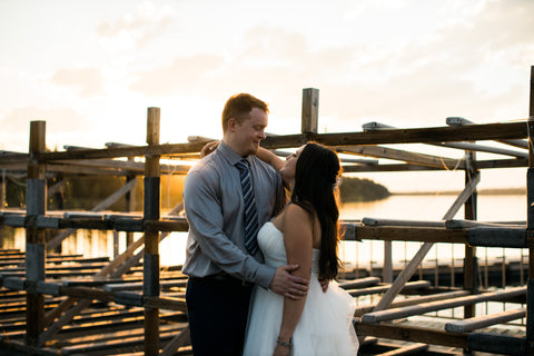 Dock in Calgary - wedding photo