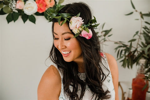 spray rose flower crown