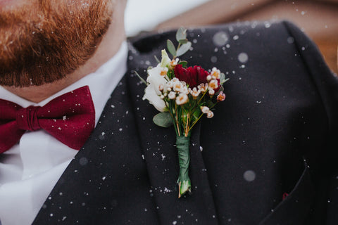 groom outfit with boutineer