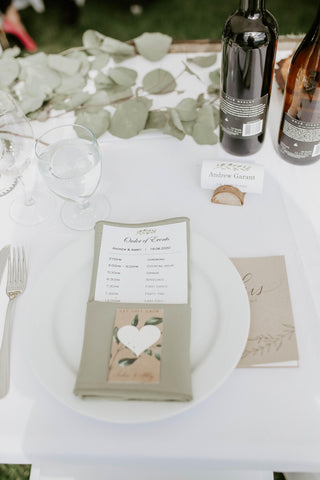 ceremony place setting