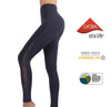 SUPERCOOL | Women's Naked Feeling Yoga Leggings with Mesh Design (Quartz Grey)