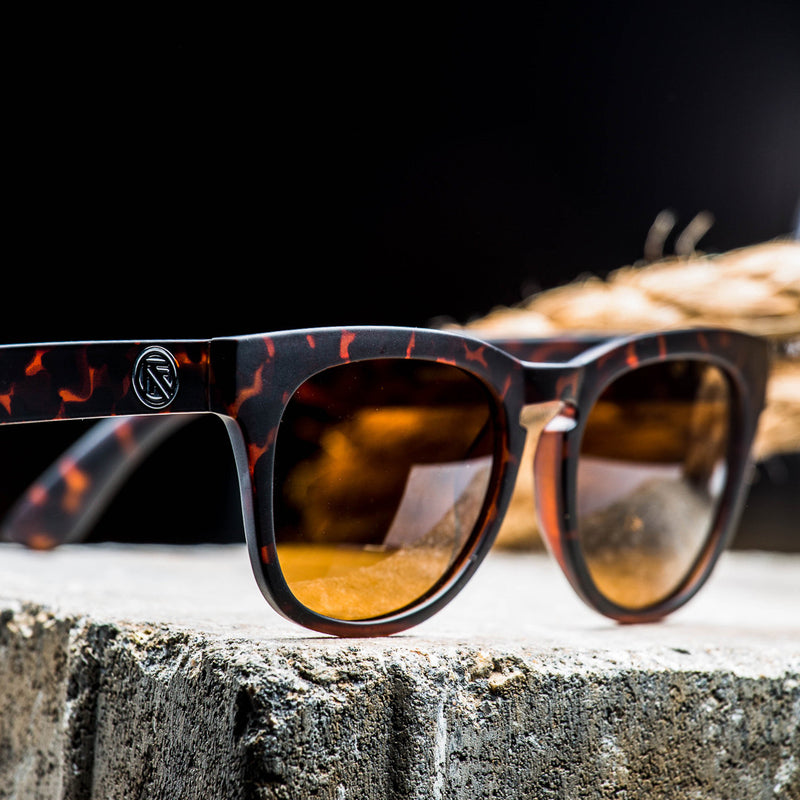 TORTOISE MATTE/BRONZE POLAR LENS | Injected SLIDER