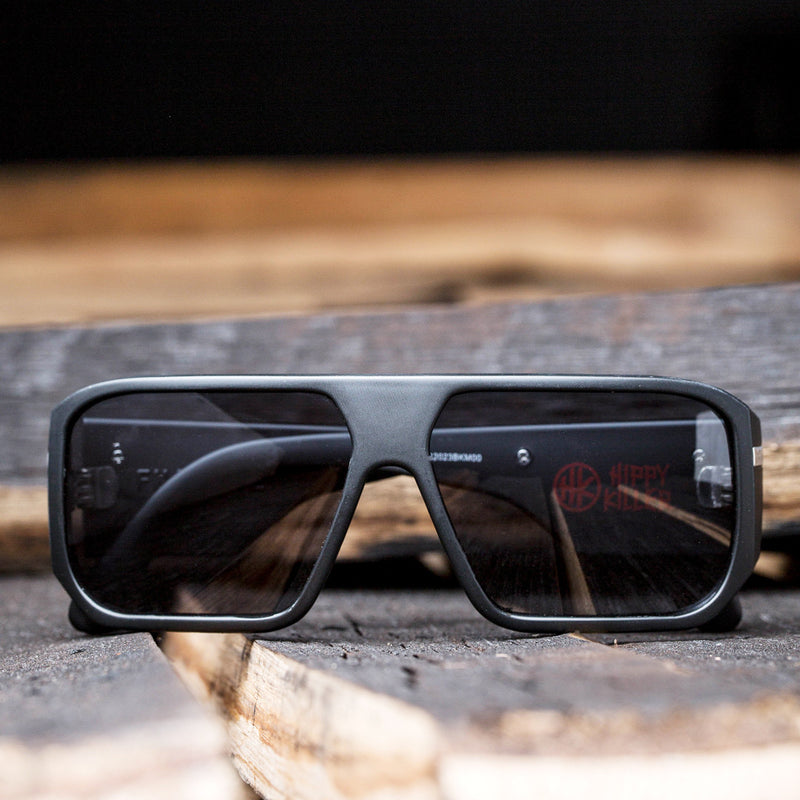 Hippy Killer | Hippy Killer  BLACK MATTE/ GREY LENS | Injected SLIDER