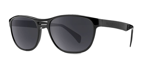 Echo | Filtrate Eyewear | Acetate-GLOSS BLACK/ GREY-Filtrate Eyewear