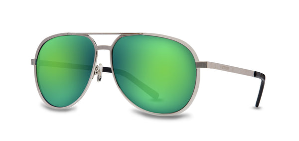M.P. | SILVER / MIRROR LENS GREEN | Metals