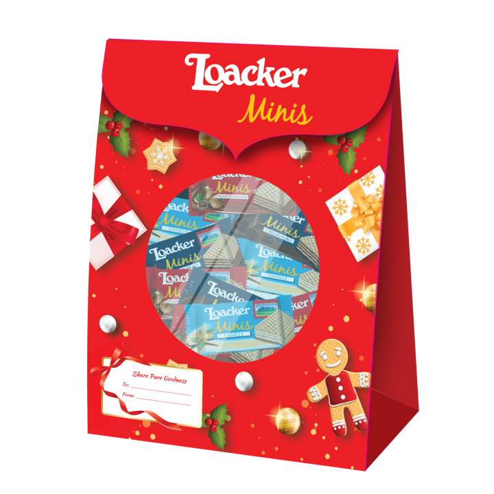 Loacker Minis Mix Christmas Pouch 200g