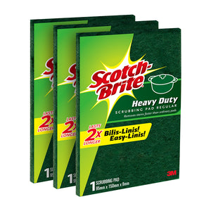 Scotch Brite Heavy Duty Scrub Pad Regular 3s - 50% off!