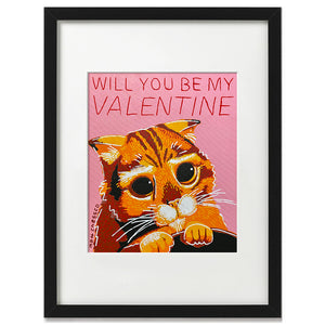 Will you be my Valentine Print