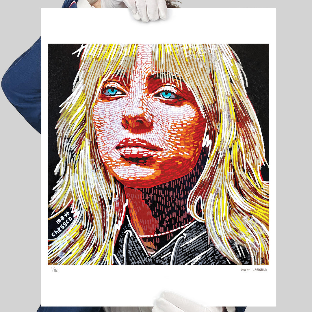 Blonde Billie Eilish Print