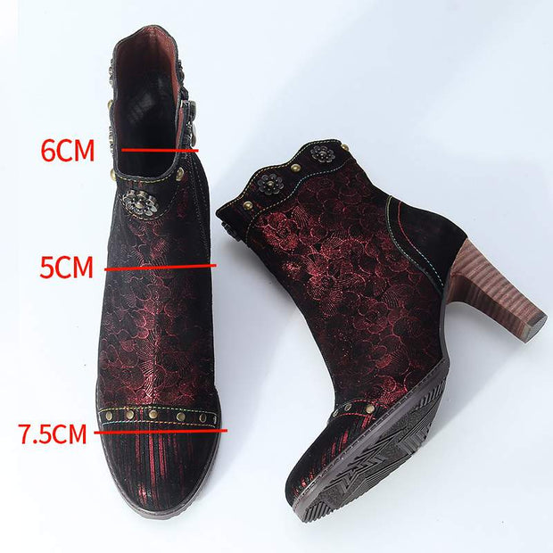Women's Handmade Low Ankle Stiletto Boots