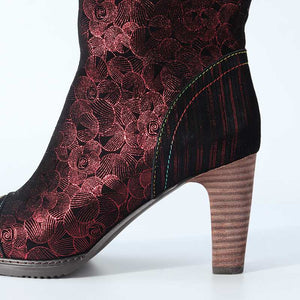 Women's Handmade Low Ankle Stiletto High Heel Boots!