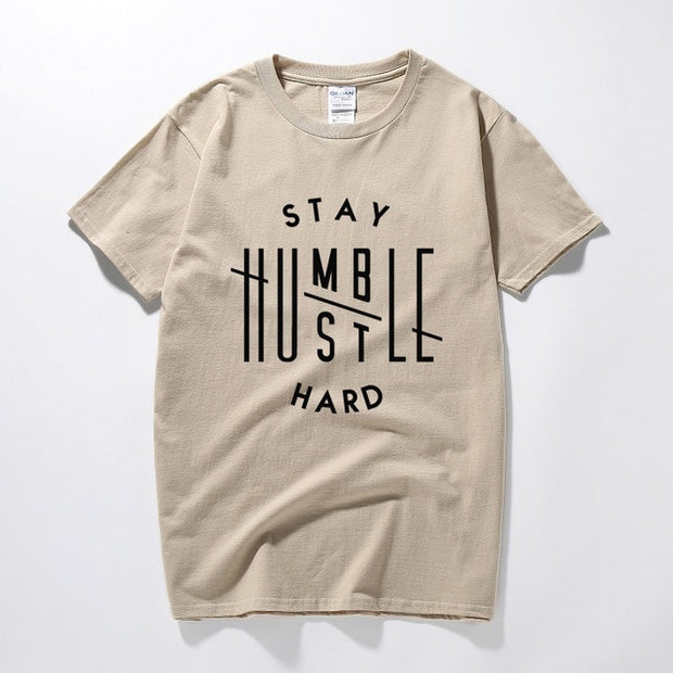 Stay Humble Hustle Hard Printed T-Shirt