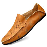 Genuine Leather Mesh Men's Loafers