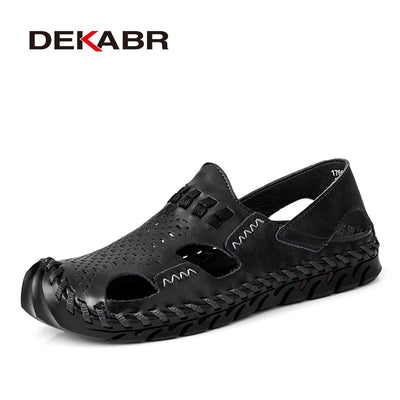 Men's Sandals- Genuine Leather Summer Shoes