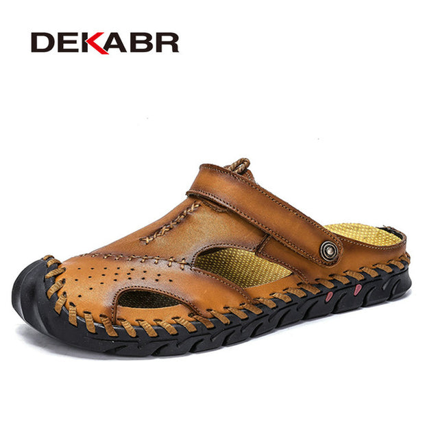 New Men Sandals- Genuine Leather Summer Shoes