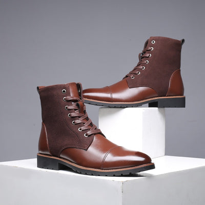 Pointy Winter Casual Leather Boots