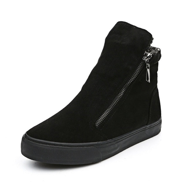 Zippered Women's Winter Shoes