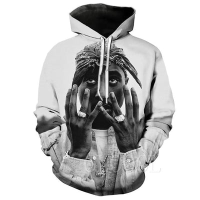 Vintage 3D Tupac Fashion Hoodies