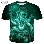 Unisex Fashion Hindu God Ganiesha 3D Print T-shirt