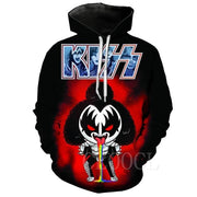 KISS Band 3D Printed Hoodies