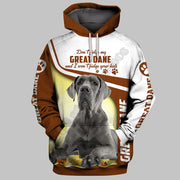 Great Dane 3D Printed Hoodies