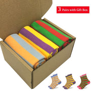 Funny Combined Cotton Women Socks in Gift box (3 Pairs/box)