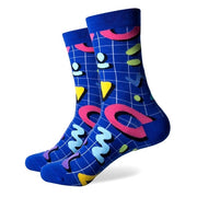 Men Colorful Combed Cotton Novelty Socks