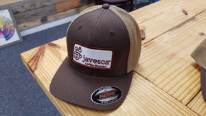 Brown Two Tone FlexFit Patch Hat