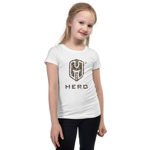 World Greatest Conquerors inside the BEA HERO™ Logo Girl's T-Shirt.