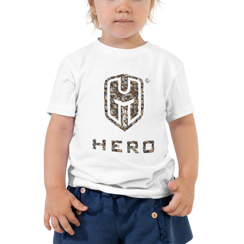 Toddler Short Sleeve Tee, World Greatest Conquerors captured in the BEA HERO logo