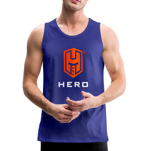Men's Premium Tank Orange logo BEA HERO™ - royal blue