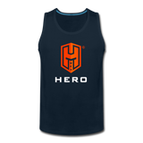Men's Premium Tank Orange logo BEA HERO™ - deep navy