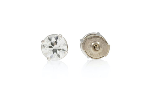 White Gold Stud Earrings