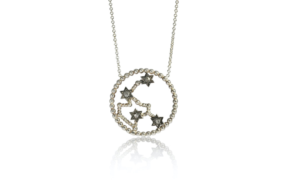 "Zodiac Necklace Diamond ""Aquarius"""