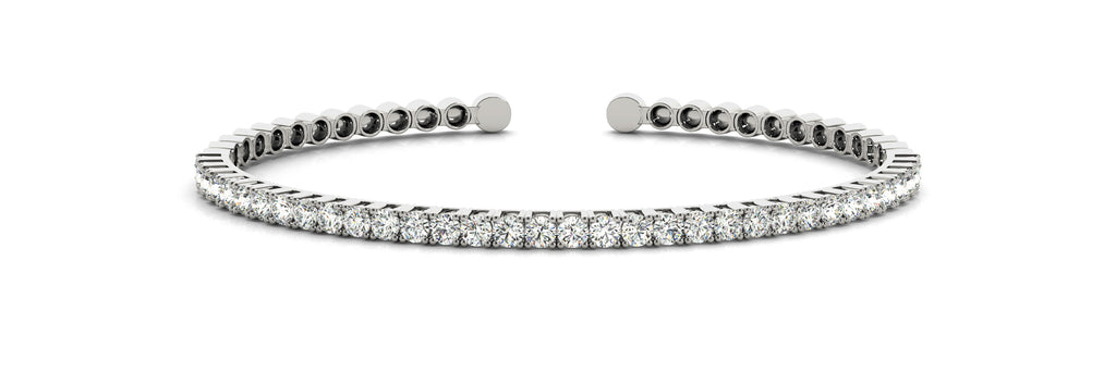 BANGLE PRONG SET DIAMOND BRACELET