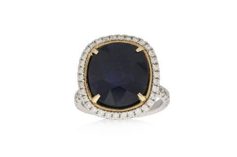Two Tone Sapphire Ring