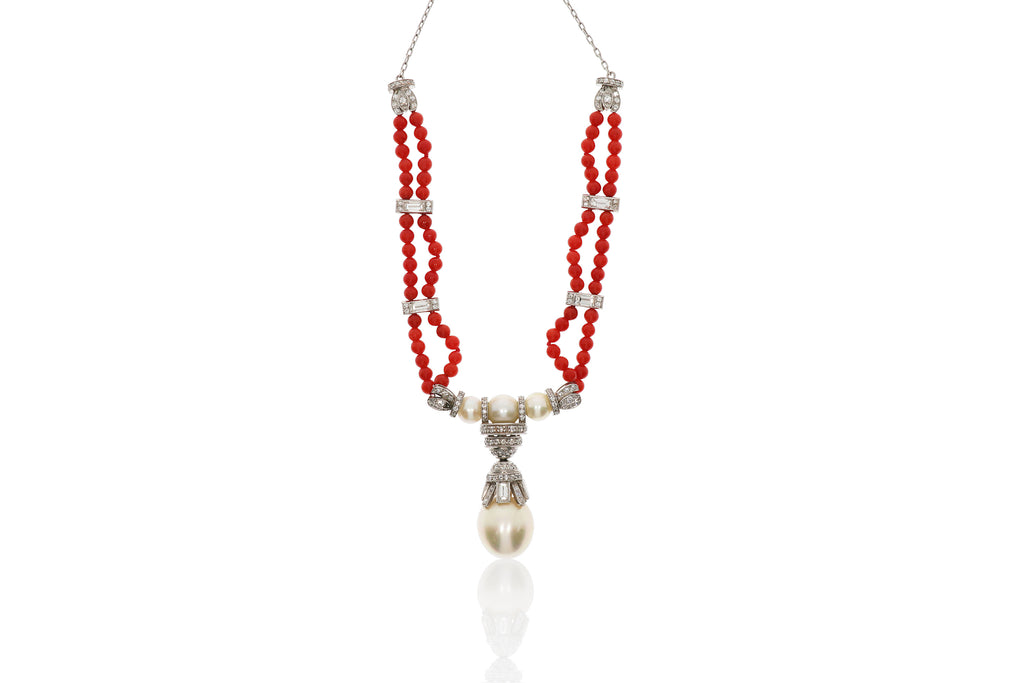 Pearl Coral Beads Necklace
