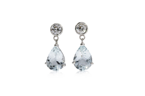 Aqua Marine Drop Earrings