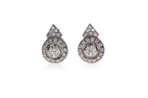 Earrings White Gold Halo