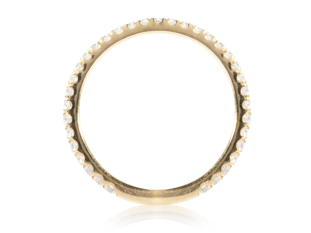 Diamond Yellow Gold Half Eternity Band